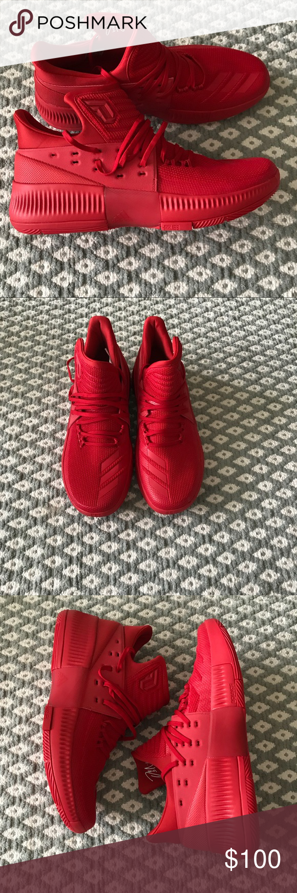 Adidas D Lillard Dame 3 Rip Città Cesto Rosso Nwt Pinterest
