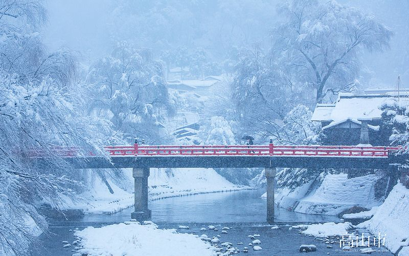 Takayama in Snow by Jiratto
