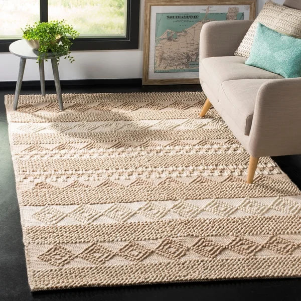 Shop Safavieh Natura Hand Tufted Beige Ivory Wool Area Rug 8 X 10 On Sale Free Shipping Today Overstock 1519271 Casual Rug Colorful Rugs Area Rugs