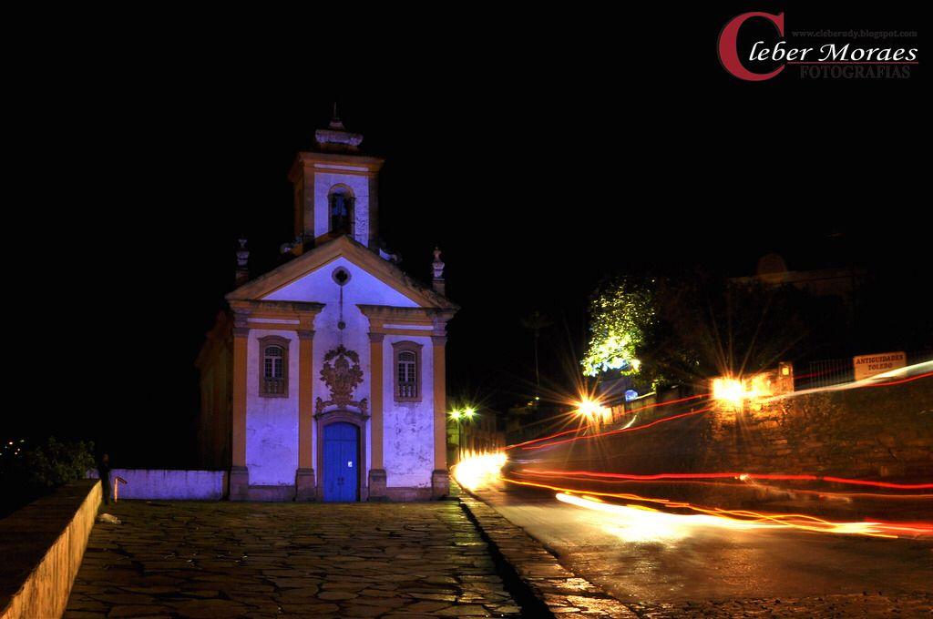 Luzes Igreja Nossa Senhora Das Merces De Cima Ouro Preto Mg