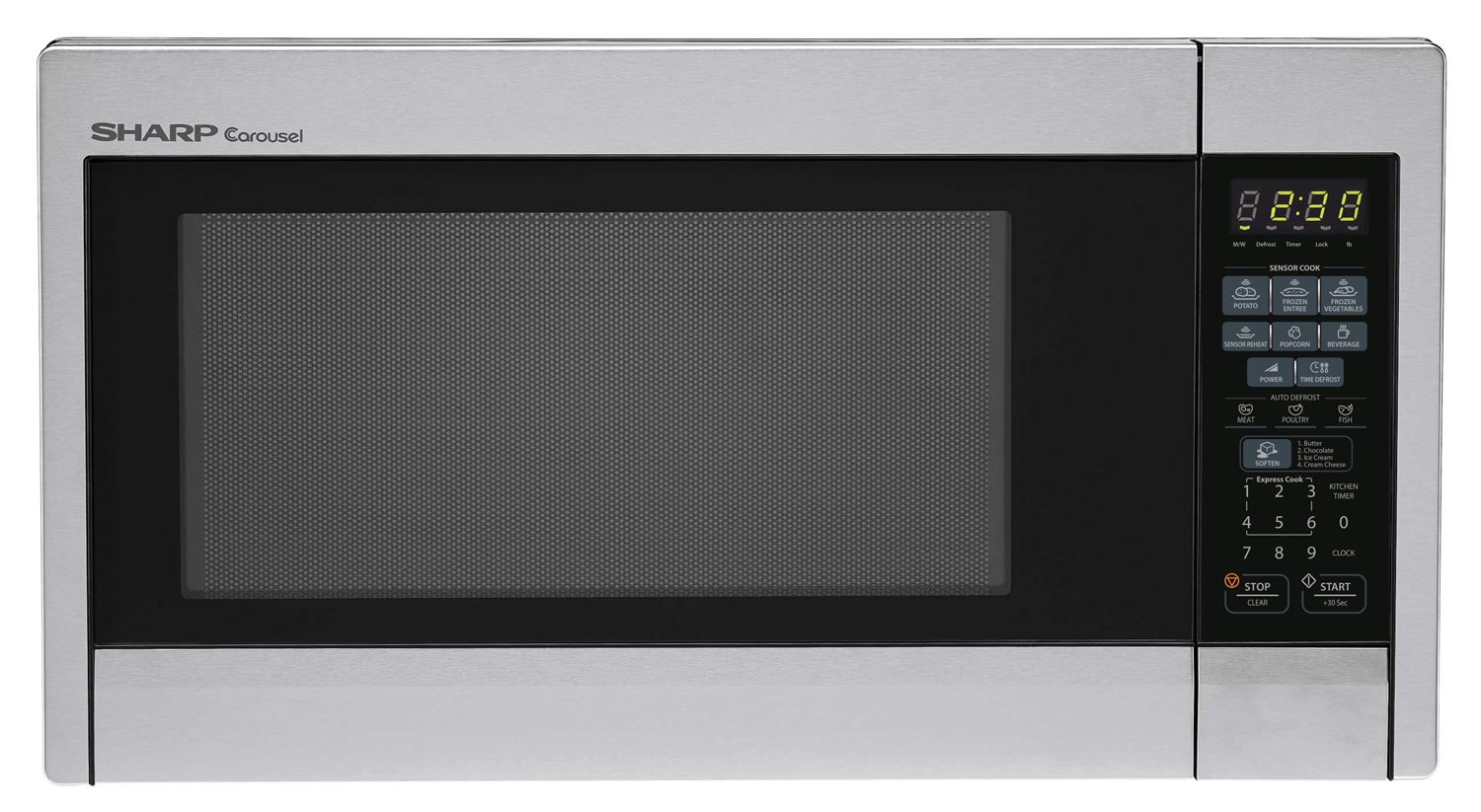 1 3 Cu Ft Stainless Steel Countertop Microwave With Images