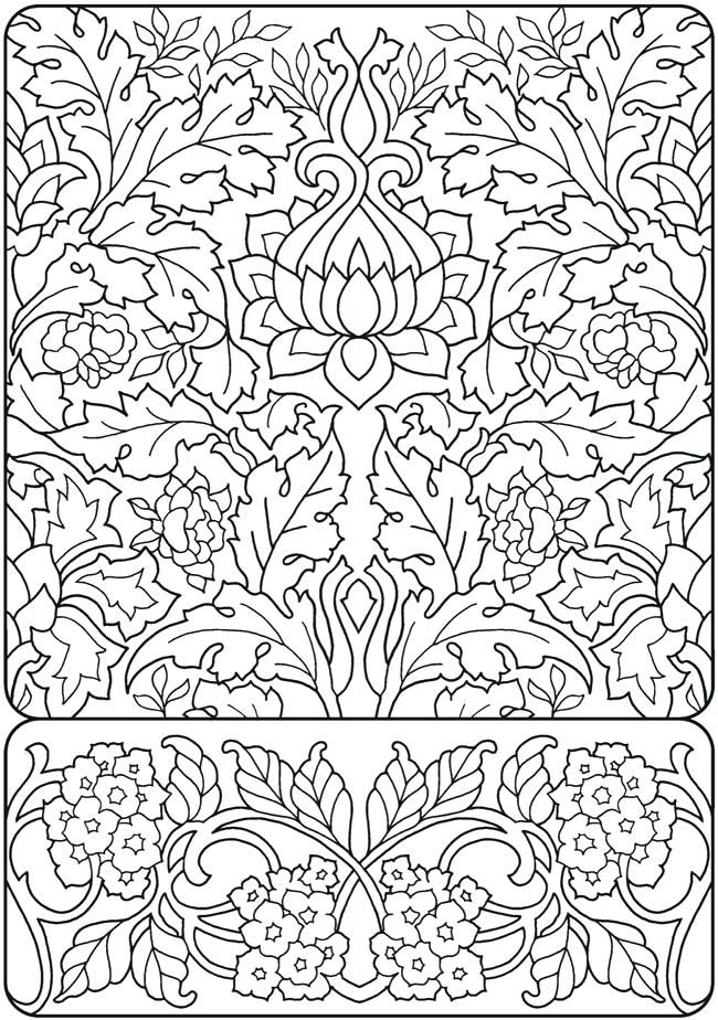 Art Nouveau Coloring Pages Creative Haven Deluxe Edition Elegant Art ...