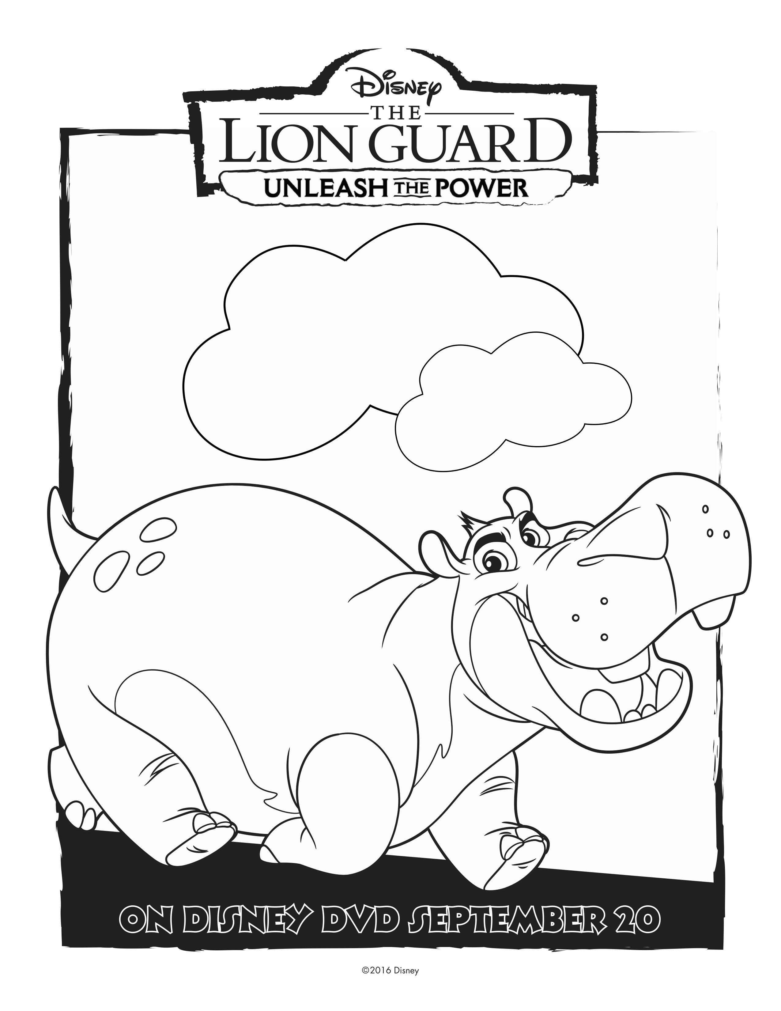 Free Disney Lion Guard Beshte Coloring Page Disney Coloring Pages