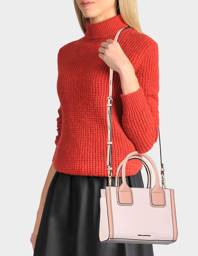 90e3b9fa7613 Karl Lagerfeld K Klassik Mini Tote Bag in Pink Saffiano