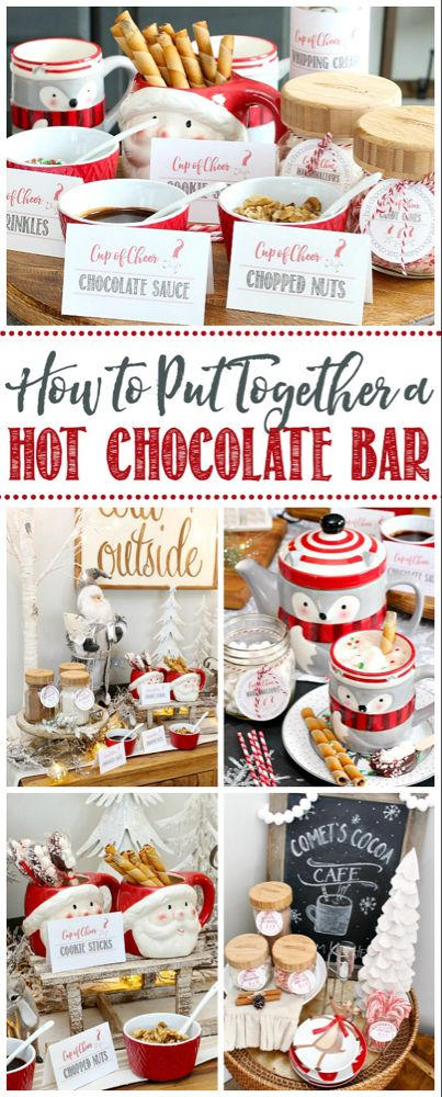 Hot Chocolate Bar Ideas - Clean and Scentsible