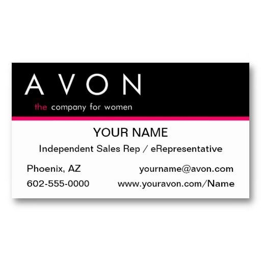 AVON Business Cards Avon Calling Pinterest Avon - Avon business card template