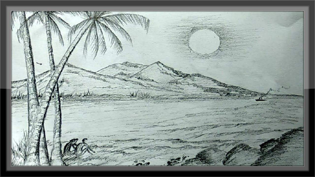 Pencil Drawings Landscape Romantic Nature Scenery Easy Landscape Pencil Drawings Landscape Drawings Nature Drawing