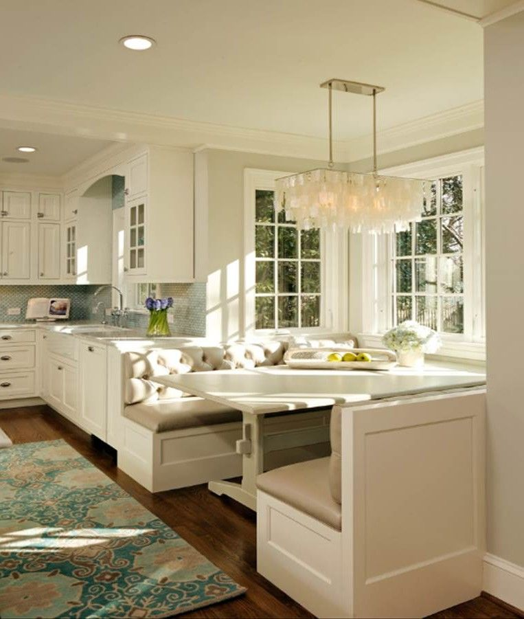 Banquet Kitchen Layout: Banquette For Bay Window - Google Search