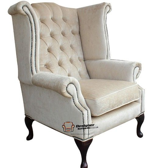 Find This Pin And More On Living Room Queen Anne Wing Back Chairs