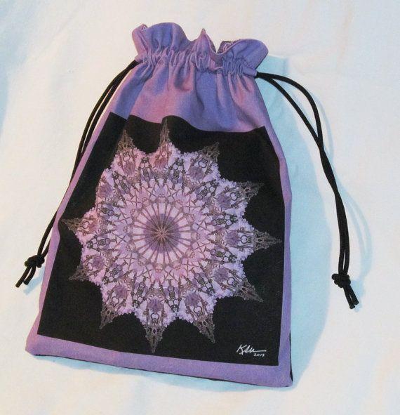 Nature Mandala Drawstring Bag  Grape by Allenx2PhotoandCraft, $20.00