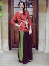 lovely two tone tone pleated maxi skirt....was £65 now £30!