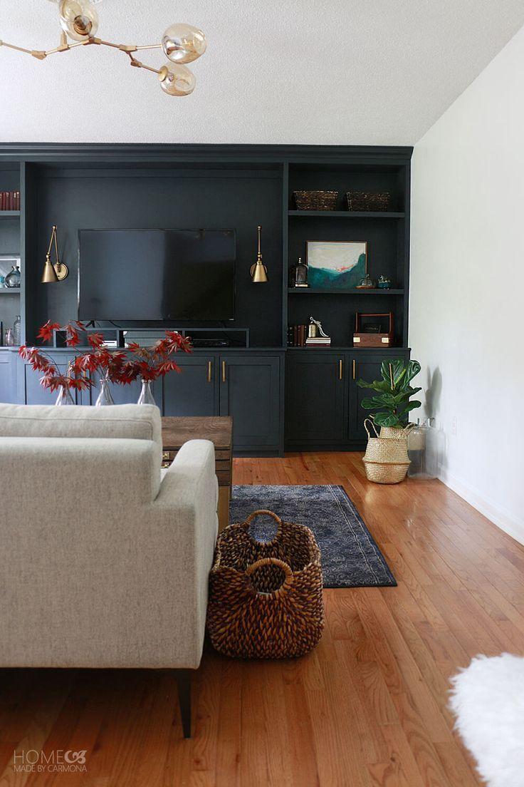 Living Room Makeover Reveal Entertainment Center Living Room