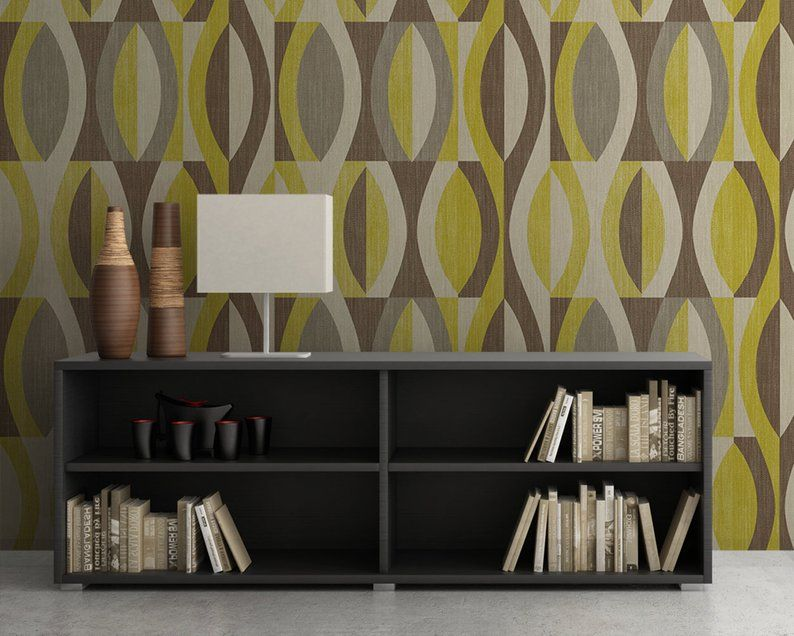 Removable Wallpaper, Mid Century Modern, Textured, Mid