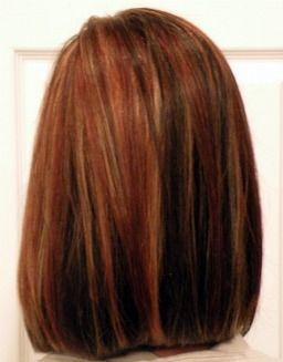 Womens Medium Length Slight A Line Haircut Dark Brown