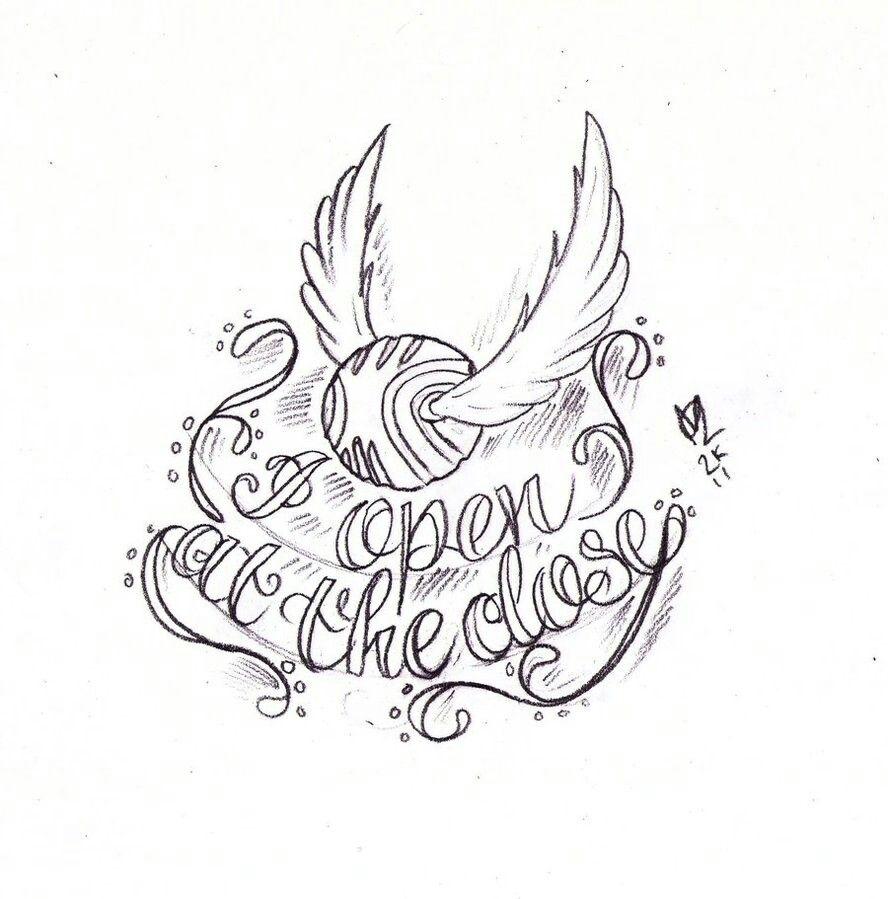 Harry Potter Schnatz Tattoo Tatowierung Skizzen Harry Potter Tattoos