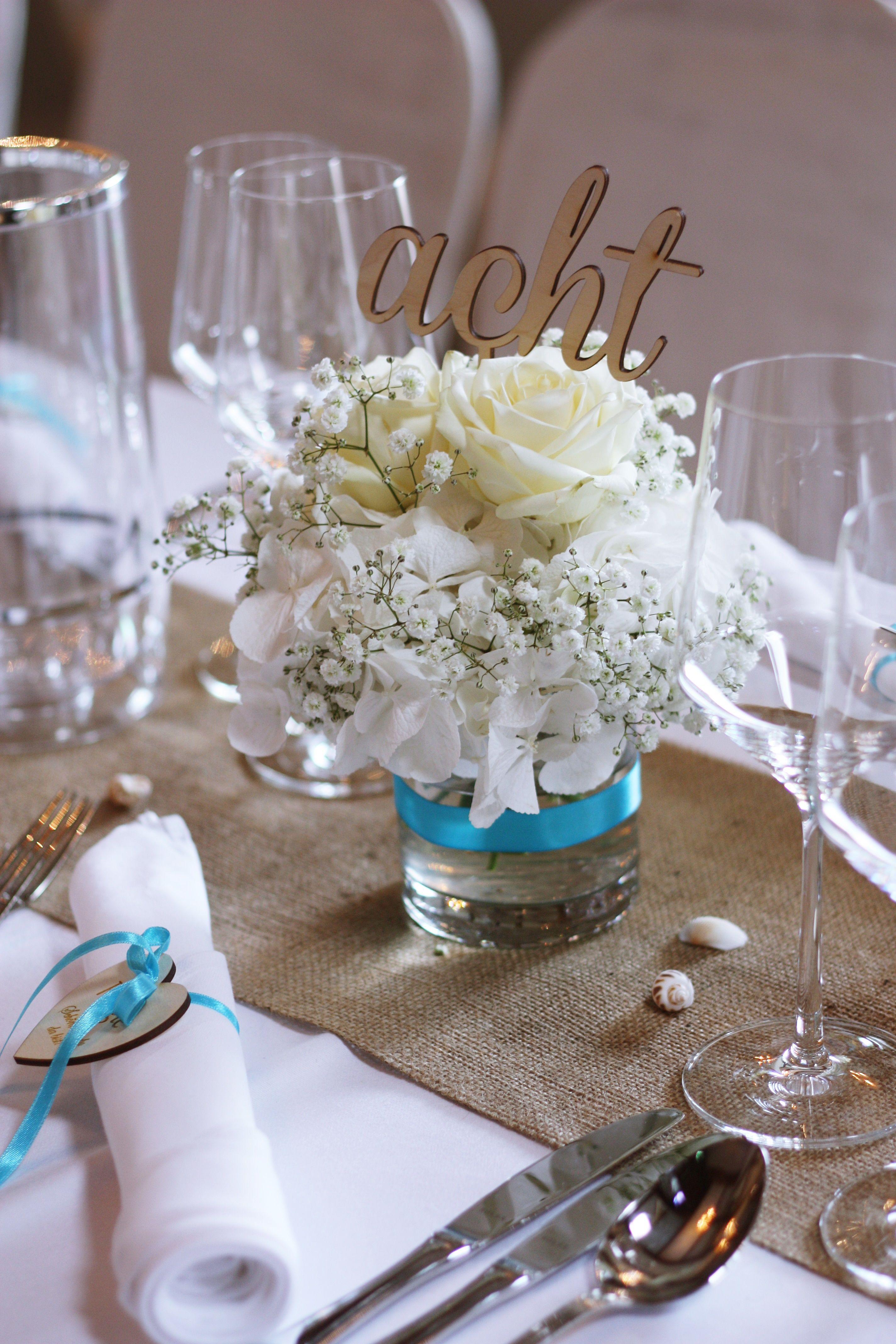 Vintage Maritim Hochzeitsdeko Tischdeko Holz Juteläufer Muscheln Hortensien Schleierkraut Rosen Türk Schleierkraut Hochzeit Vintage Hochzeit Deko Hochzeitsdeko