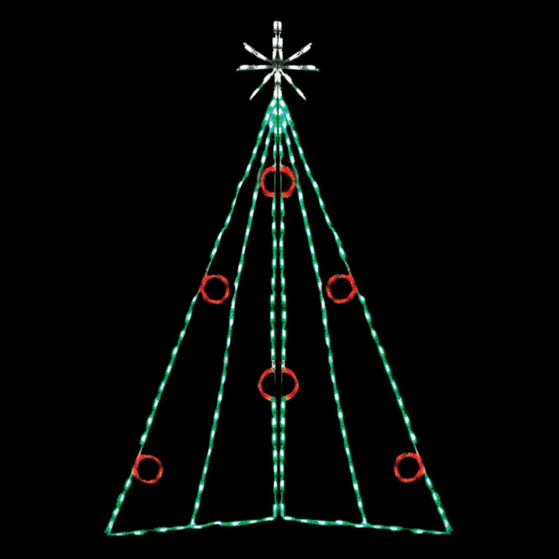 82 in outdoor led christmas tree with berries display