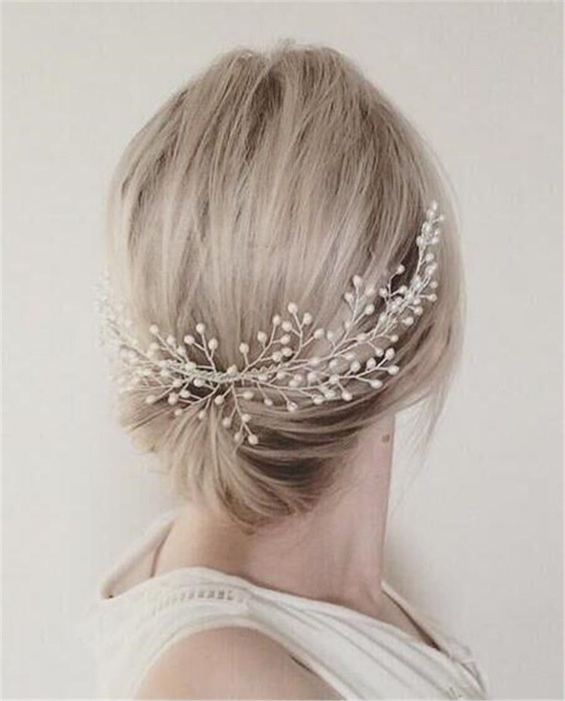 vintage wedding pearl hair comb headpiece jewelry crown
