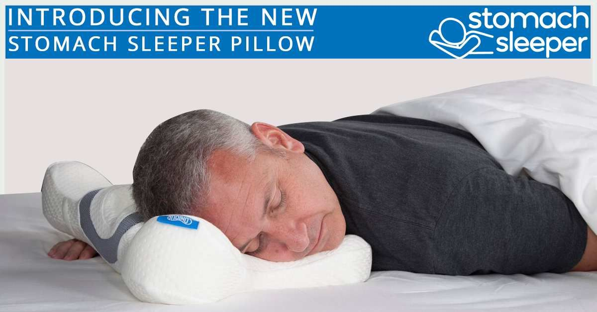 New Stomach Sleeper Pillow Is Designed For People Who Sleep On Their Stomachs Eliminate Sore Necks An Stomach Sleeper Pillow Stomach Sleeper Stomach Sleeping