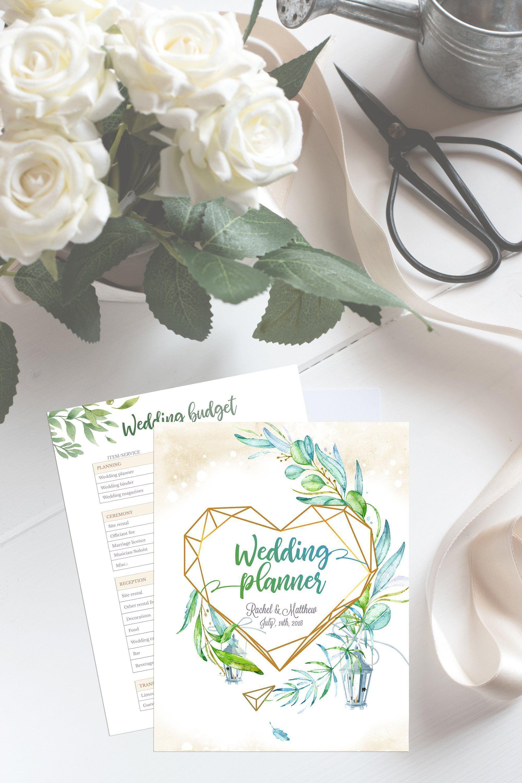 Wedding Planner Template Printable, Bridal Planning