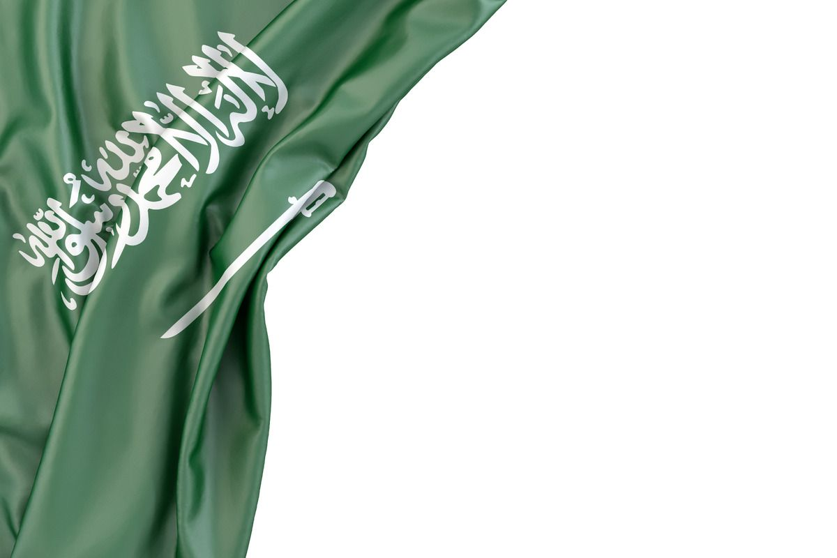 Free Stock Illustration Flag Of Saudi Arabia In The Corner On White Background Isolated Contains Clipping Path Saudi Arabia Flag Saudi Flag Ksa Saudi Arabia