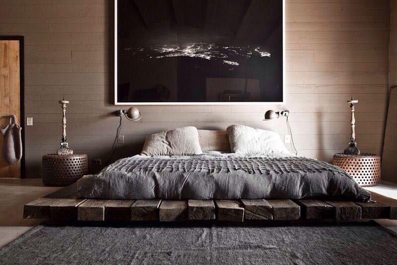 durmientes cama king   mias   Pinterest   Camas king, Camas y ...