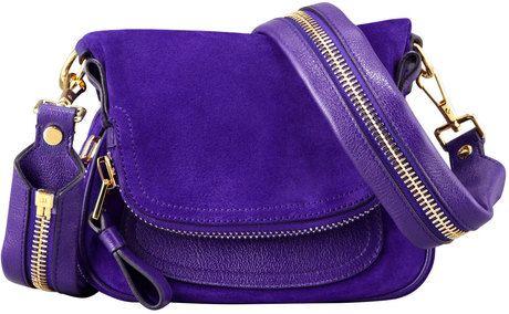 957086b7d58b0 Tom Ford Womens Jennifer Suede Mini Crossbody Bag Purple in Purple  1790
