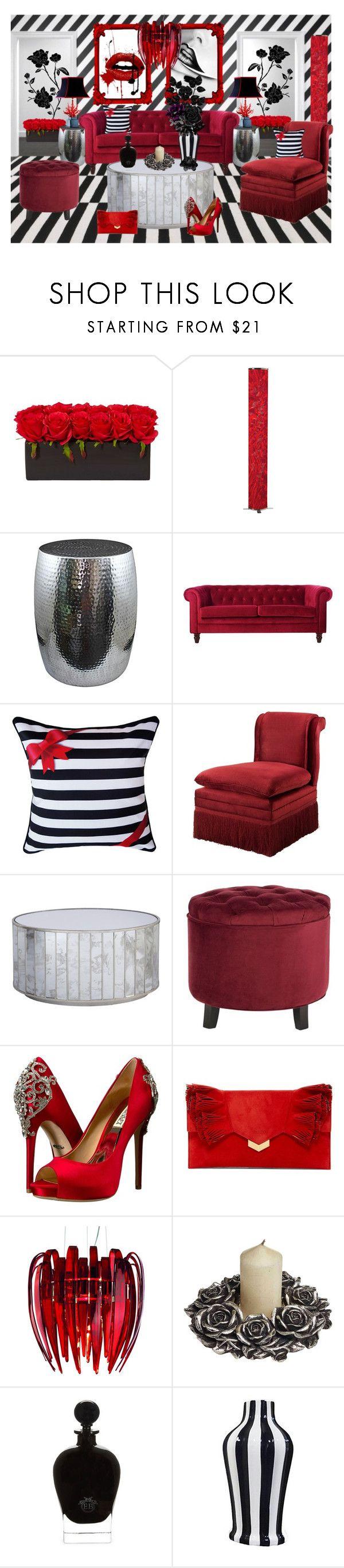 Black, White & Red Living Room | Red living rooms, Black white red ...