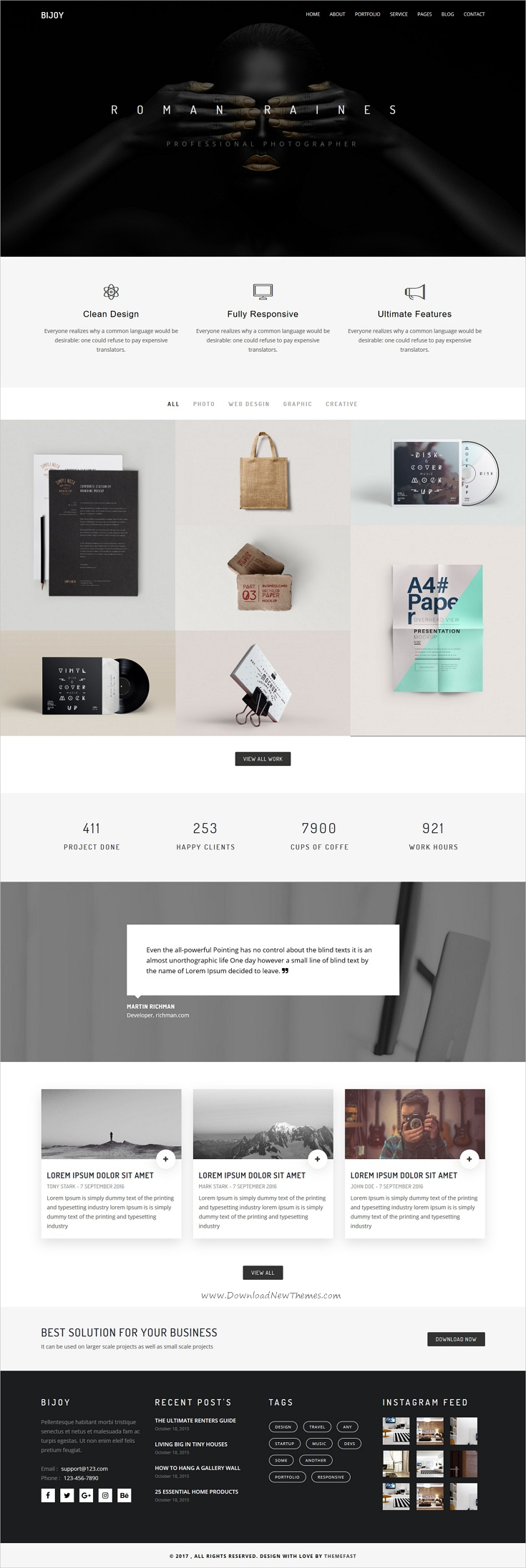 Bijoy - Minimal Portfolio Template