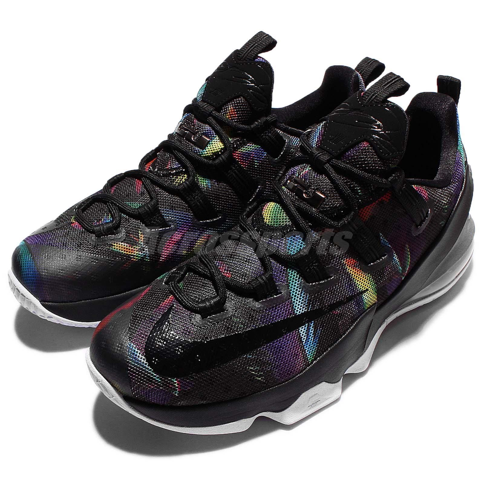f47e6794ae7 Nike Lebron XIII Low EP James 13 Birds of Paradise Black Rainbow Mens 831926 -051