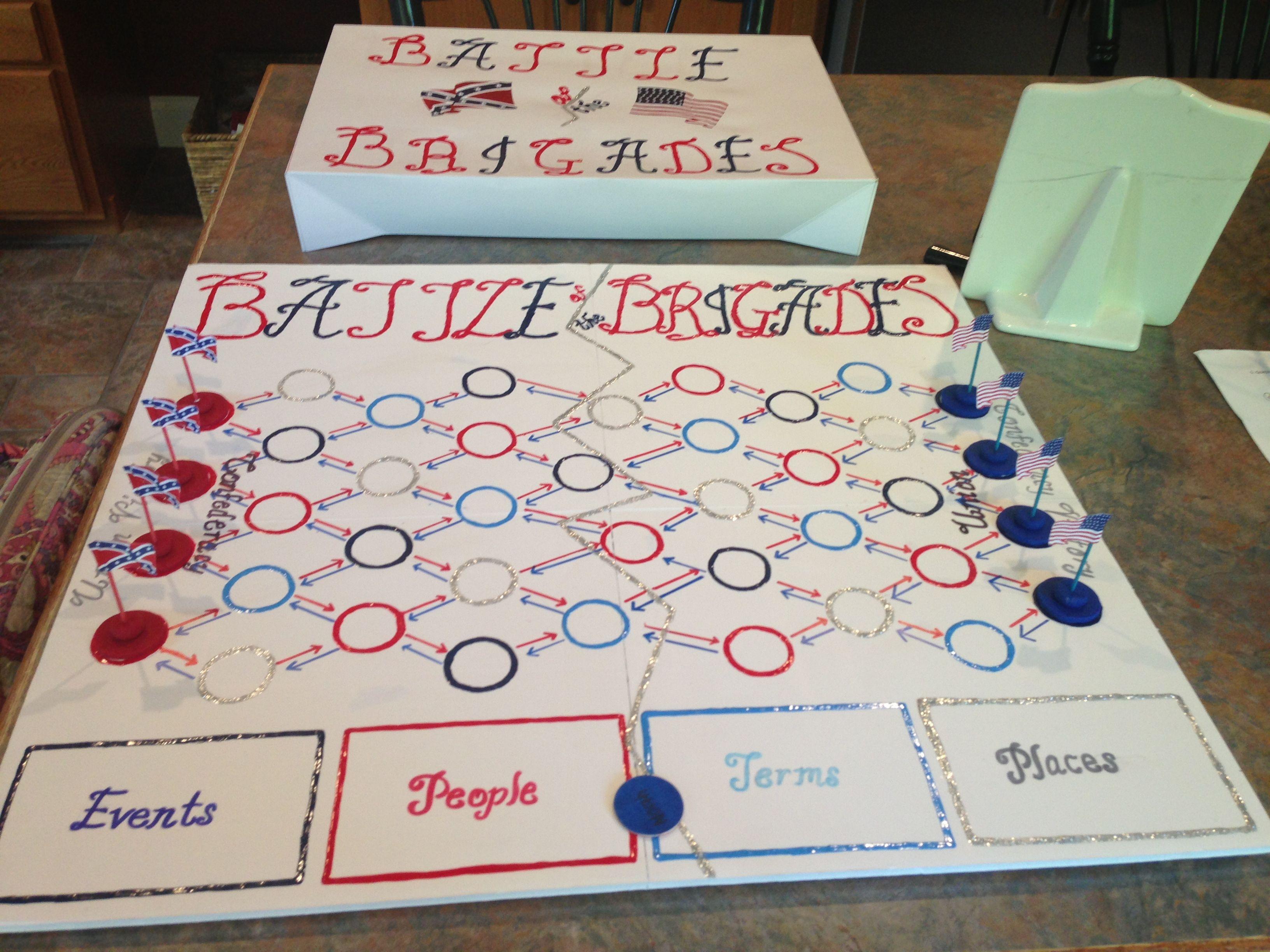 homemade diy board game us history american revolution
