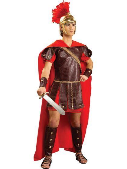 Roman Gladiator Soldier Warrior Hercules Centurion Medieval Toga Mens Costume