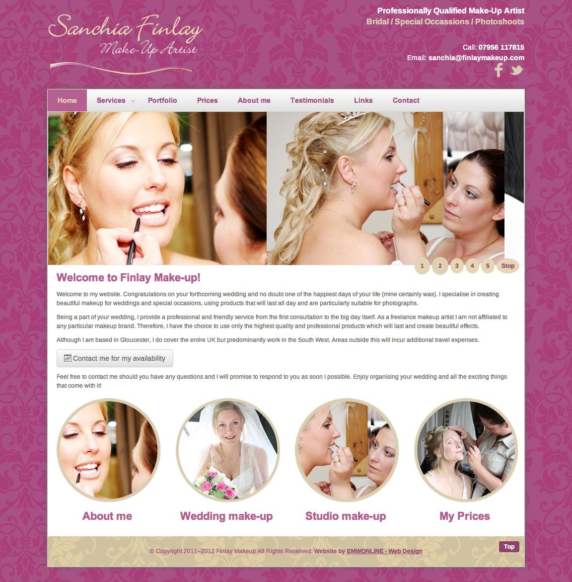 Makeup Artist Website Template | Wix.com LOVE this, but don't want ...