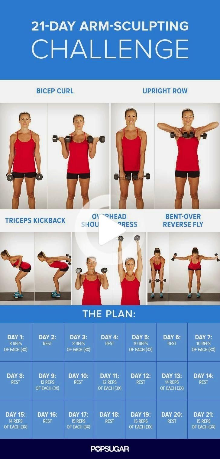 21-Day Arm-Sculpting Challenge | Remedies Corner #fitness #workout