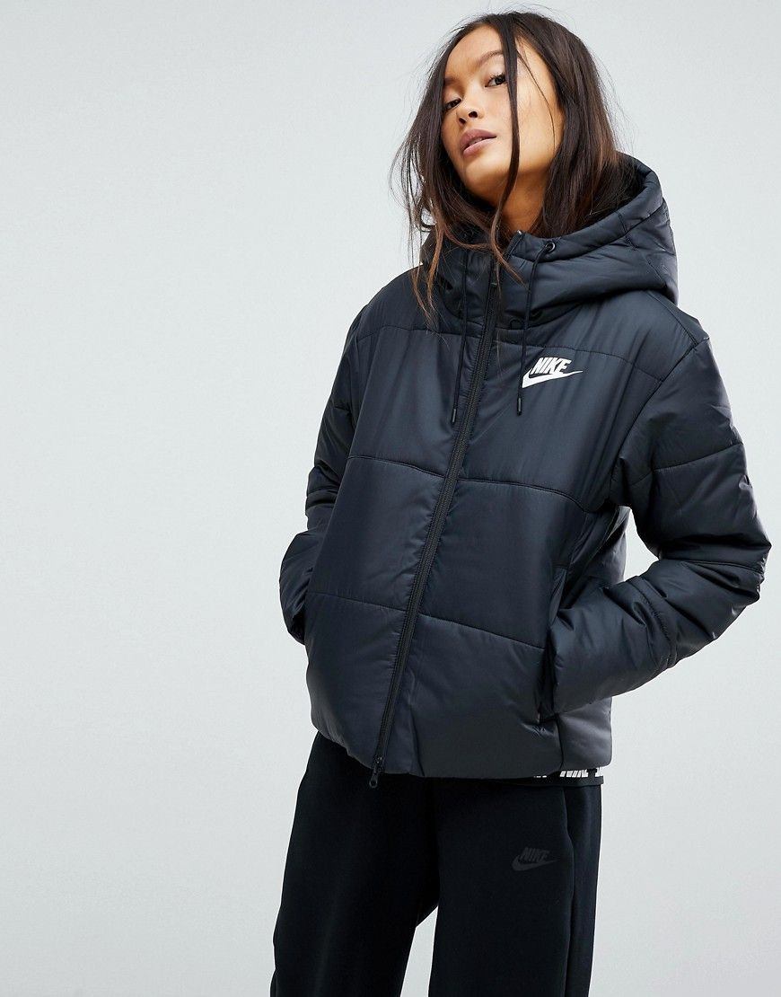 Nike advance 15 w winterjacke schwarz