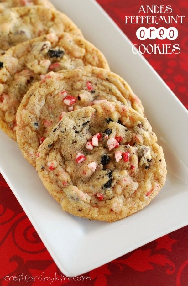27+ Cookie Recipes Perfect For Christmas Cookie Exchanges- Andes Peppermint Oreo Cookies Recipe from Creations By Kara