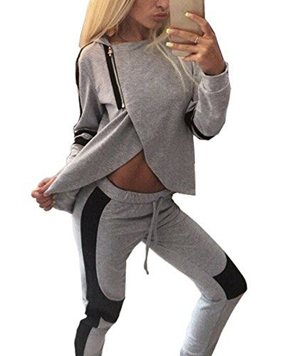 zearo damen fitness pullover hose sportanzug jogginganzug hausanzug zearo damen fitness. Black Bedroom Furniture Sets. Home Design Ideas