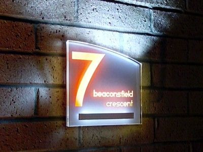 Aurora LED lit house sign acrylic or laser signs Pinterest