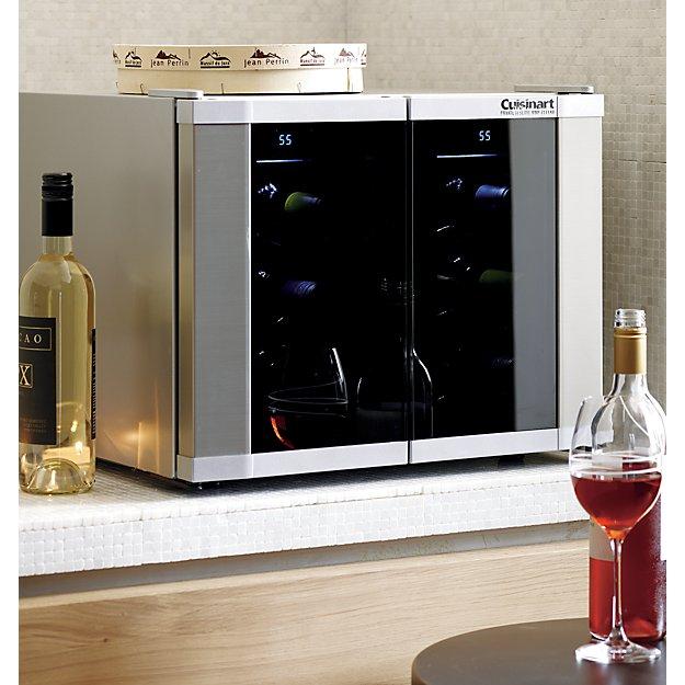 Cuisinart Dual Zone Wine Cooler Reviews Crate And Barrel In 2020 Wine Storage Wine Cellar Italian Wine