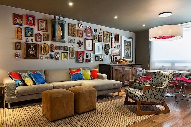 Artistic And Ethnic Mexican Apartment