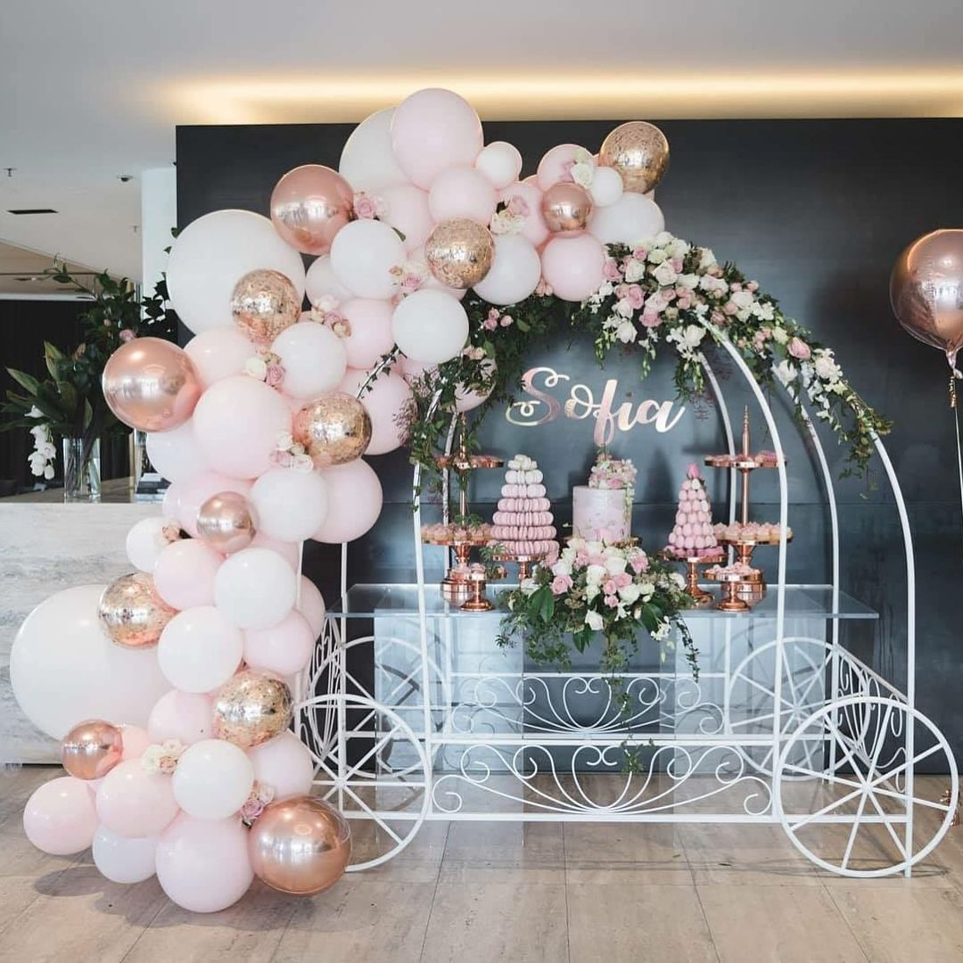 Loving The Rose Gold White And Pink Theme For Sofia S Christening