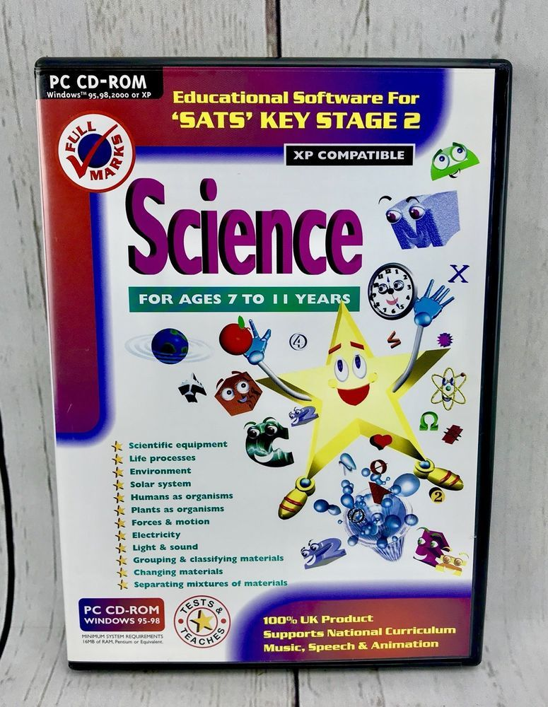 PC cd rom Full Marks Keystage 2 Science educational learning ...