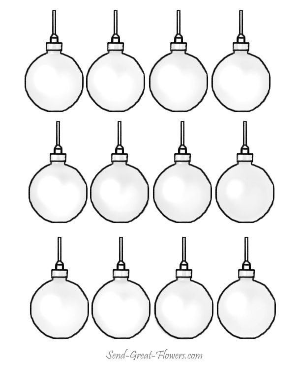 christmas ornament coloring pages printable christmas coloring - Printable Coloring Ornaments