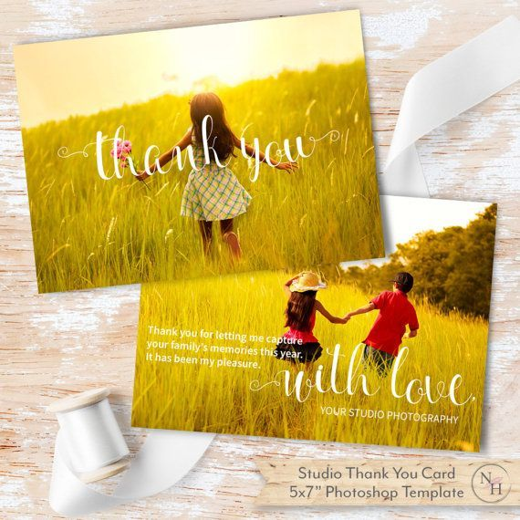 Thank You Card Template for Photography Business by NovemberHouse - business thank you card template