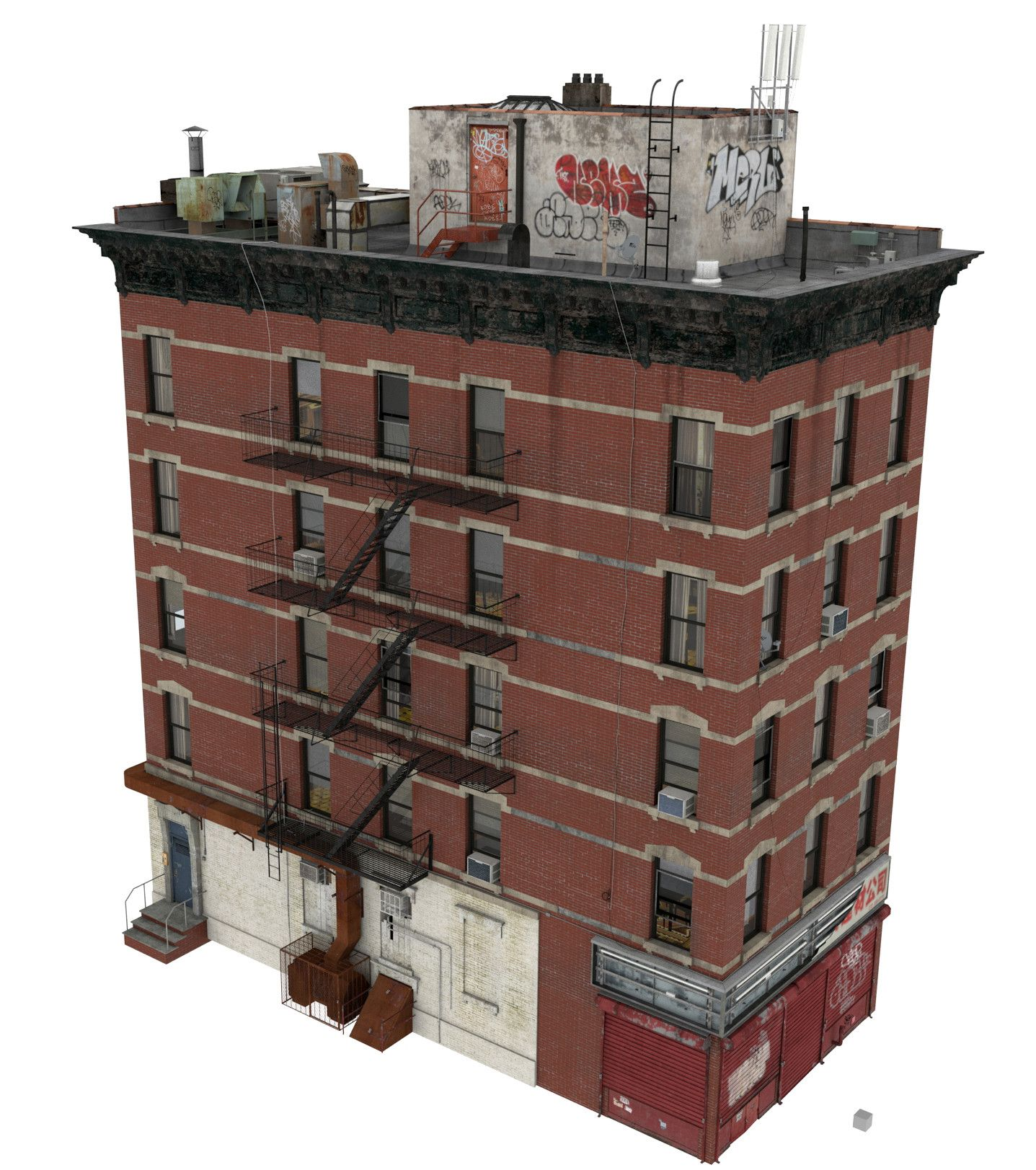 Apartment Complexes Nyc: 3d Building Apartment Model