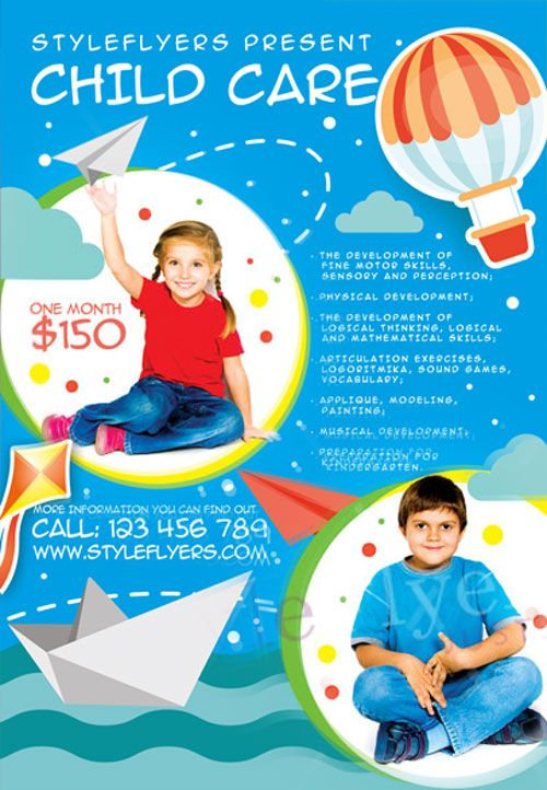 Child Care Free Flyer Template  HttpFreepsdflyerComChild