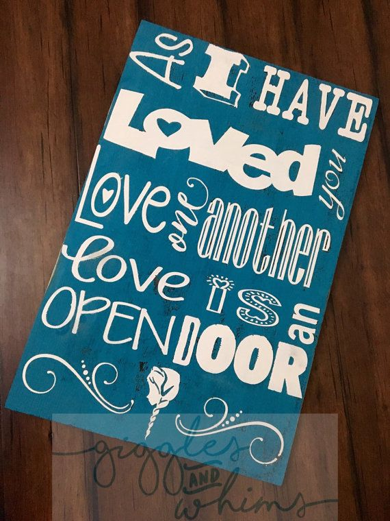 Love One Another Love Is An Open Door Music Lyric Mashup Distressed Wall Hanging Doors Music Another Love Music Lyrics