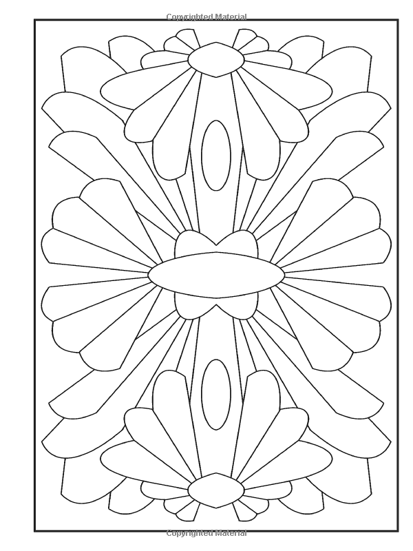 Photo of Amazon.com: Creative Haven Abstract Designs Coloring Book (Creati