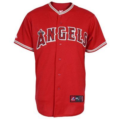 ca6d5aee5 Majestic Los Angeles Angels of Anaheim Red Replica Baseball Jersey ...