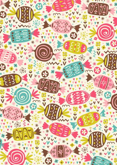 Candy phone wallpaper girly pink candy fun iphone phone for Print wallpaper designs